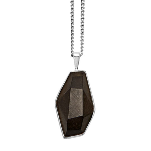 Small faceted Rosewood pendant