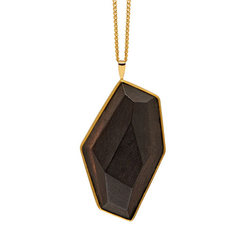 Faceted wood pendant