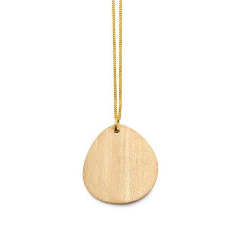 WHITE WOOD FOLI PENDANT – GOLD