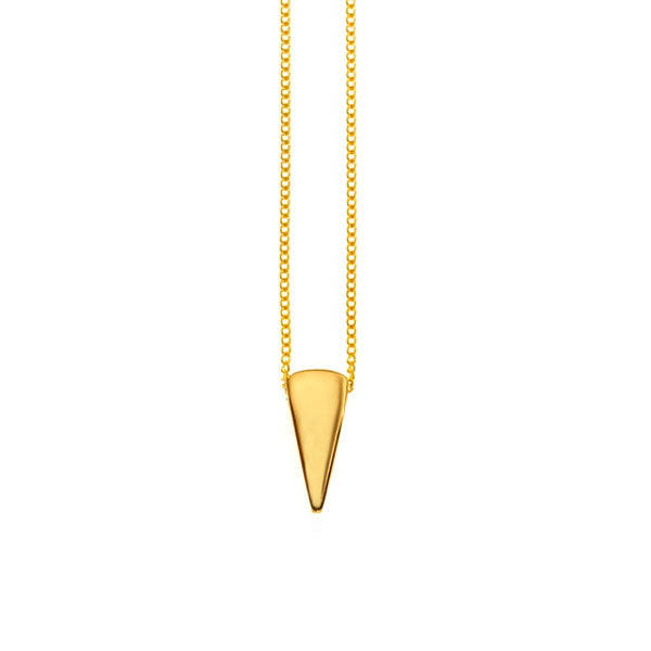 gold plated spike pendant
