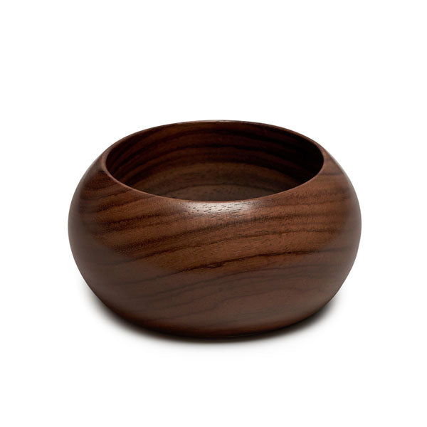 Branch Jewellery - Wide curved rounded brown wood bangle