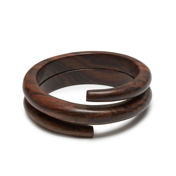 Branch Jewellery - Brown wood spiral wrap around bangle