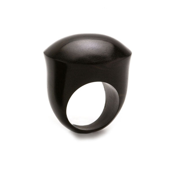 Branch Jewellery - Domed black wood statement wooden ring