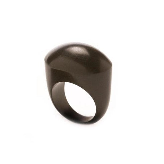 Oval wooden ring - Black wood