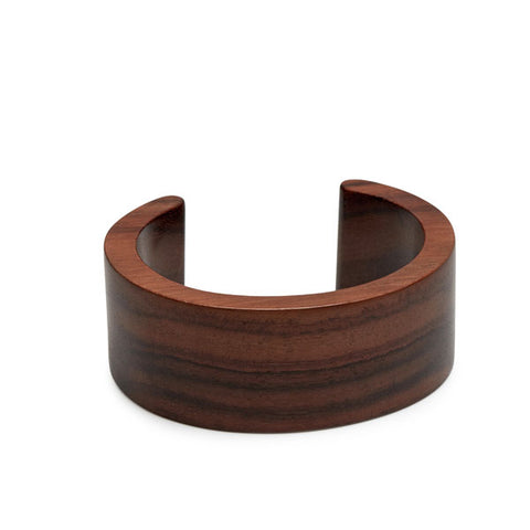 Slim black wood cuff