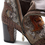 Handmade Genuine Leather Splicing Boots