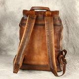 Handmade Calf Skin Double Shoulder Bag