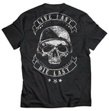 Live Fast OldSchool Motorcycle T-Shirt