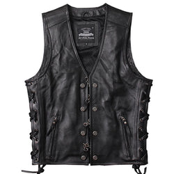 Genuine Cowhide Motorcycle Vest