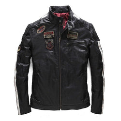 Genuine Sheepskin Motorcyclist Coat
