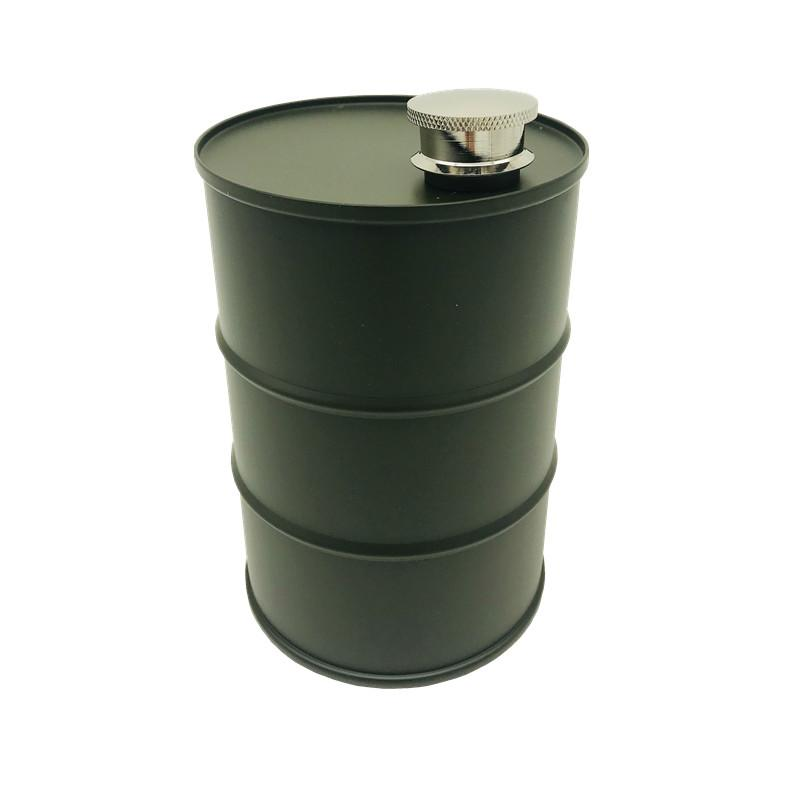 25 Oz Stainless Steel Oil Drum Flask