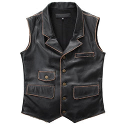 Slim Fit Cowhide Riding Vest