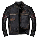 Vintage Biker's Genuine Leather Jacket