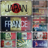 American Style License Plate Decor
