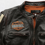 Men's Soft Cow Skin Motorcycle Jacket