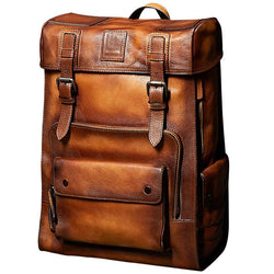 Large Capacity Cow Leather Biker Travel Bag