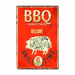 Collectors' BBQ Zone Vintage Wall Plaques.