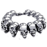 Men's Stainless Steel Skull Bracelet.