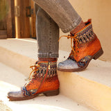 Handmade Genuine Leather Western Ankle Boots