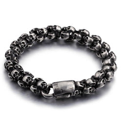 Stainless Steel Skull Bracelets For Men