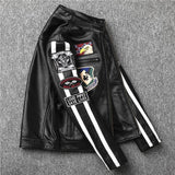 Patterned Leather Biker's Jacket