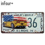 Vintage Home Decor License Plates