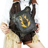 Vintage Steampunk Skull Rock Bag