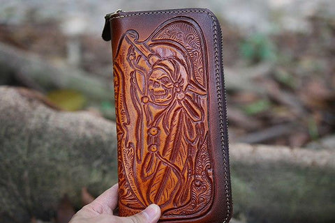 Cowhide Men's Long Wallet