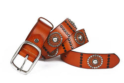 Men's Genuine Leather Western Style Fashion Belt