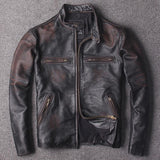 Genuine Cowhide Spring Leather Coat