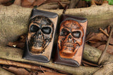 Men's Genuine Leather Skull Wallet/Pouch
