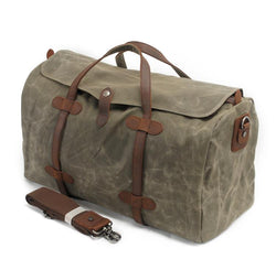 Men's Canvas and Cowhide Travel Bag