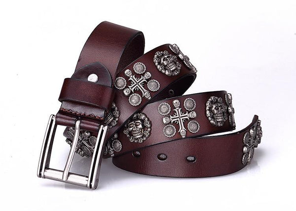 Genuine Leather Skeleton Belt