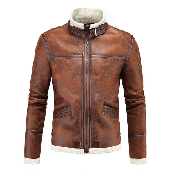 PU Leather Vintage Motorcycle Jacket