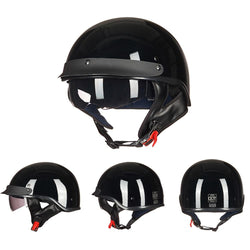 DOT Biker Helmet w/ Retractable Visor