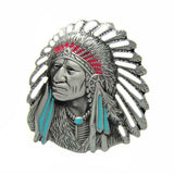 Indian Chief Native American Belt Buckle