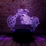3D Illusion Seven Color Motorcycle Nightlight