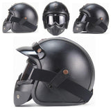 PU Leather Vintage 3/4 Helmet
