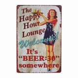 Vintage Metal Tin Sign Wall Decor