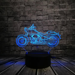 3D Illusion Seven Color Biker Nightlight