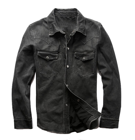 Biker's Sheepskin Leather Shirt
