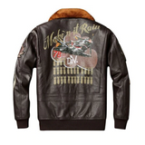 Genuine Leather Victory Bomber Jacket