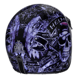 DOT Certified 3/4 GunSlinger Motorcycle Helmet