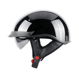 DOT Certified Biker Half Helmet w Retractable Visor
