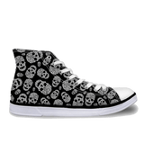 Skull Printed Canvas High-Tops