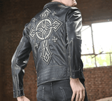 Vintage Genuine Leather Riding Jacket
