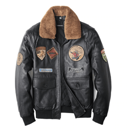 Genuine Cowhide Aviator Jacket