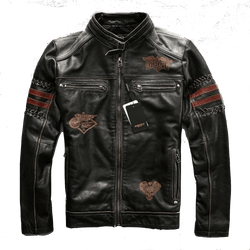 Black Genuine Leather Motorcycle Jacket