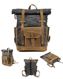 Waterproof Canvas and Leather Back Pack