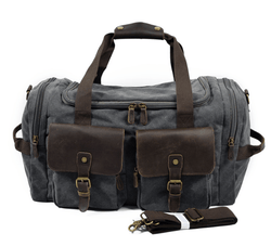 Vintage Weekend Canvas and Leather Travel Bag